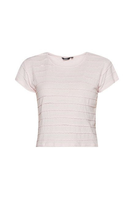 Nuon by Westside Pink Solid T Shirt