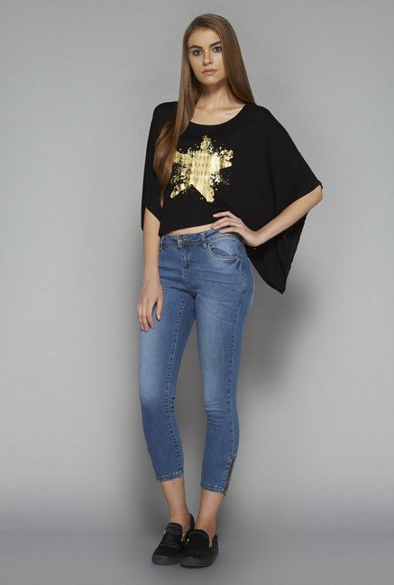 Nuon by Westside Black Bronx Top