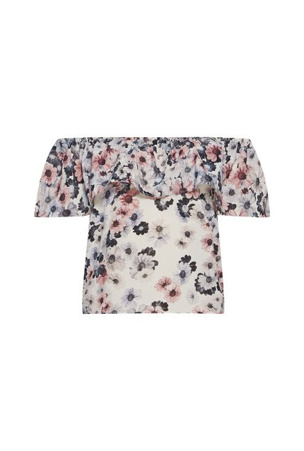 Nuon by Westside Off White Daisy Blouse