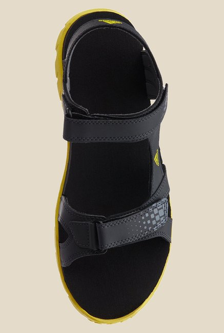 Adidas Argo Dark Grey & Lime Green Floater Sandals