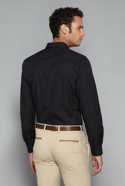 Weststreet by Westside Black Slim Fit Shirt