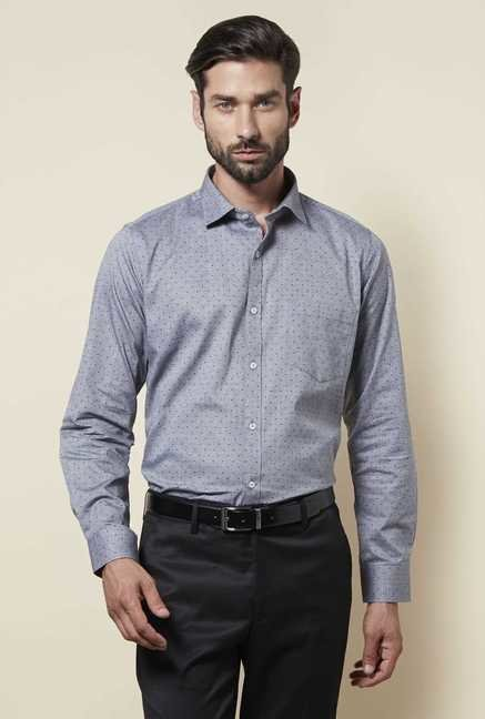 Zudio Grey Slim Fit Shirt