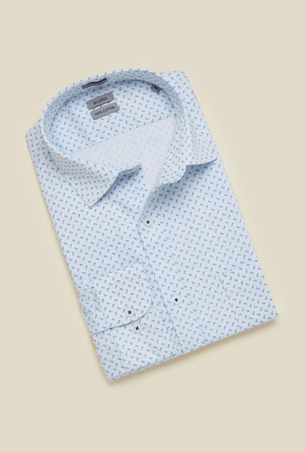 Zudio Light Blue Slim Fit Shirt