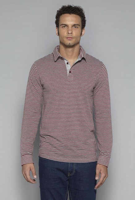 Ascot by Westside Grey Slim Fit T Shirt