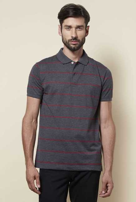 Zudio Grey Polo T Shirt
