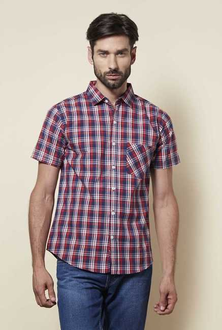 Zudio Red Slim Fit Shirt