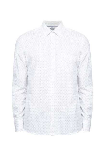 Zudio White Slim Fit Shirt