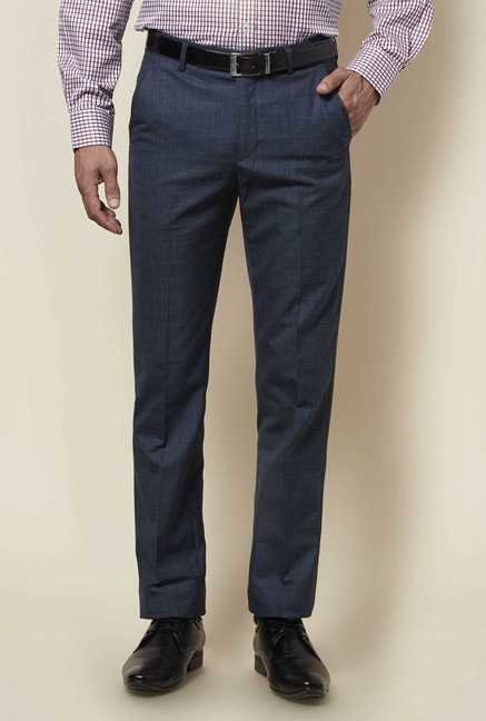 Zudio Dark Blue Slim Fit Trouser