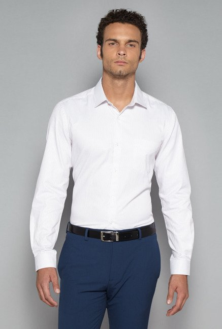 Weststreet by Westside White Slim Fit Shirt