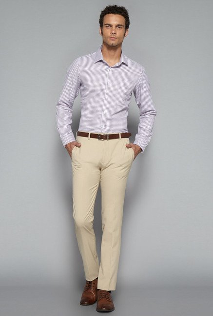 Weststreet by Westside Red Slim Fit Shirt