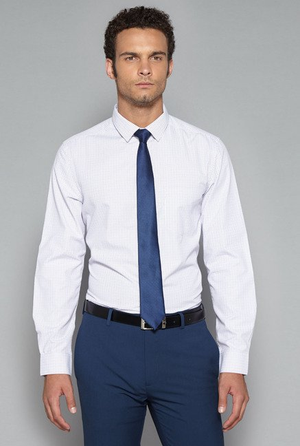Weststreet by Westside Lilac Slim Fit Shirt