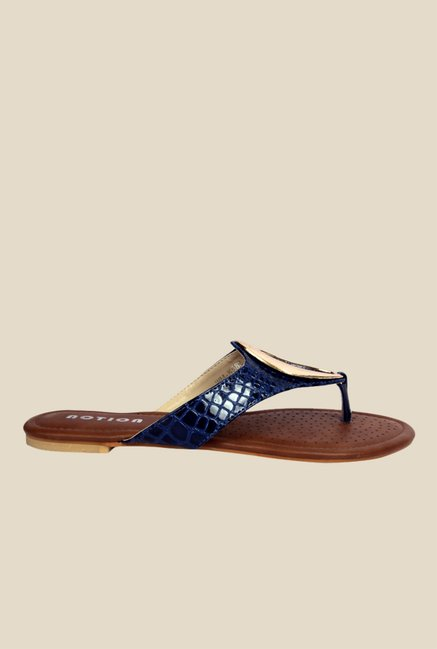 Notion Gilda Navy Thong Sandals