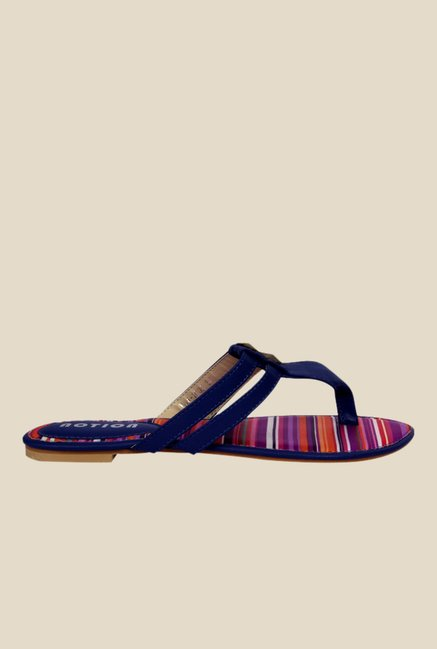Notion Giosetta Navy T-Strap Sandals