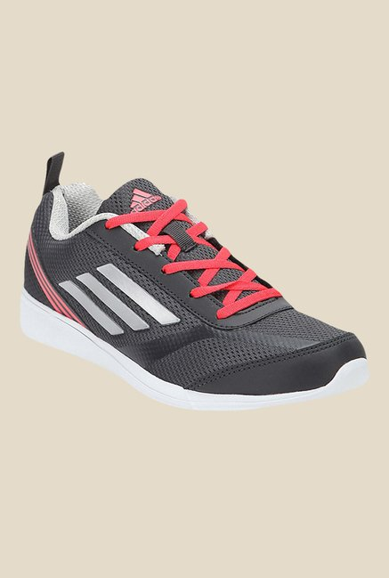 Adidas Adiray Grey & Red Running Shoes