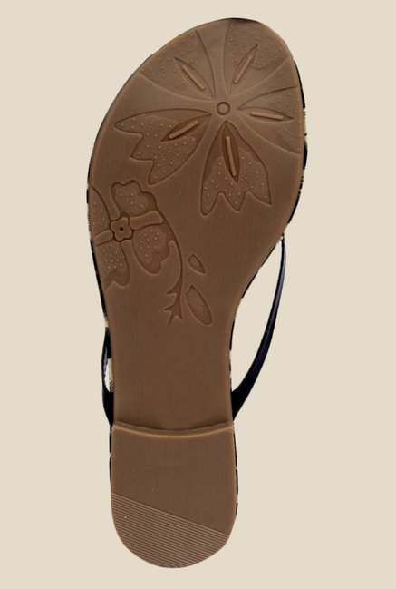 Notion Gemma Black Thong Sandals