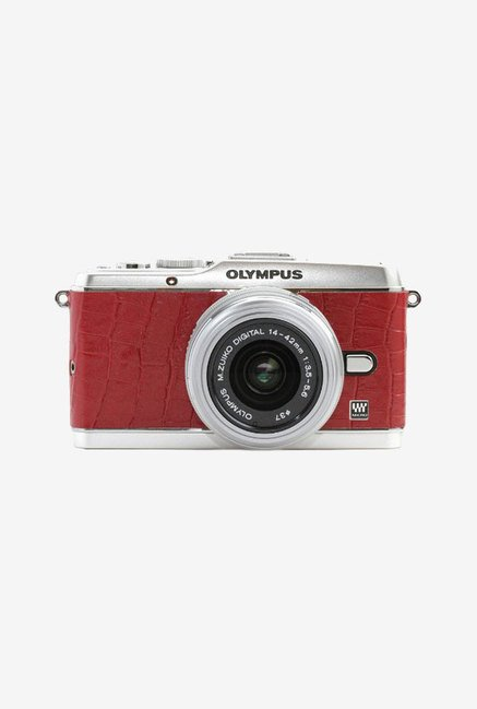 Japan hobby tool Olympus E-P3 Camera Leather Sticker (Red)