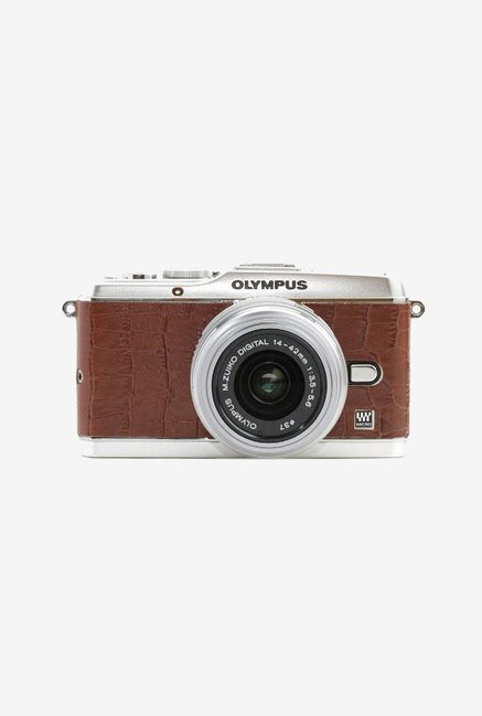 Japan hobby tool Olympus E-P3 Camera Leather Sticker (Brown)