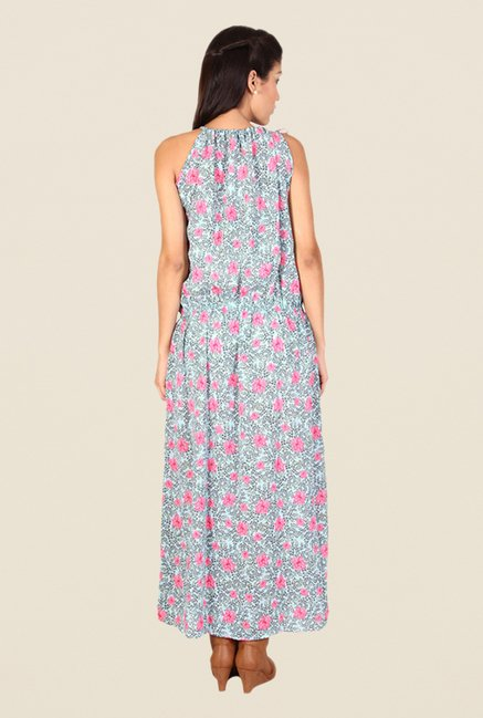 Alibi Blue Floral Print Dress