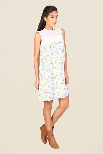 Alibi White Floral Print Dress