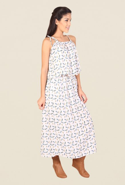 Alibi Beige Printed Dress
