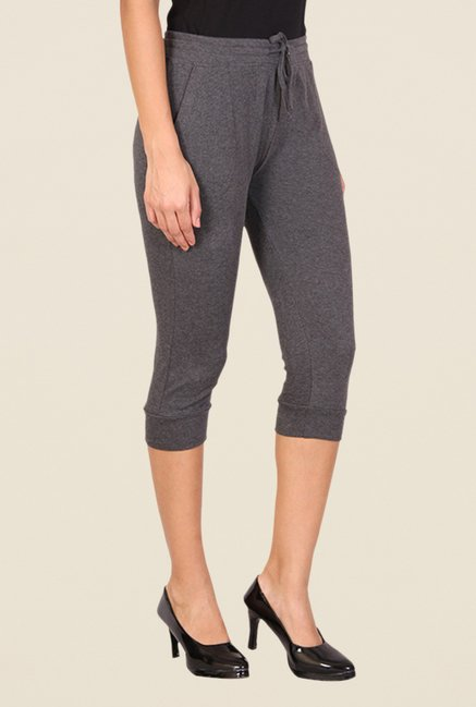 Alibi Grey Textured Capris