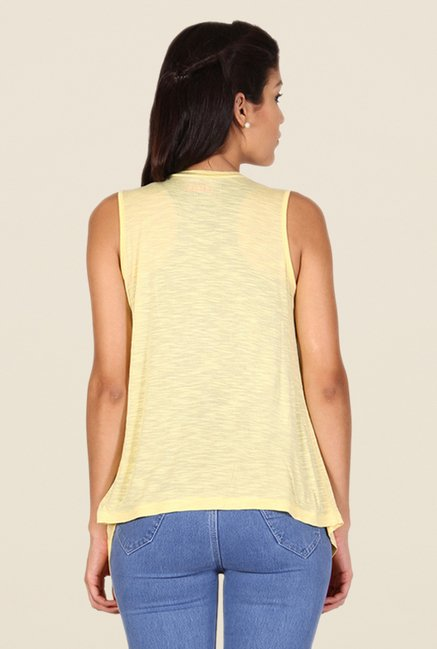 Alibi Yellow Textured Shrug