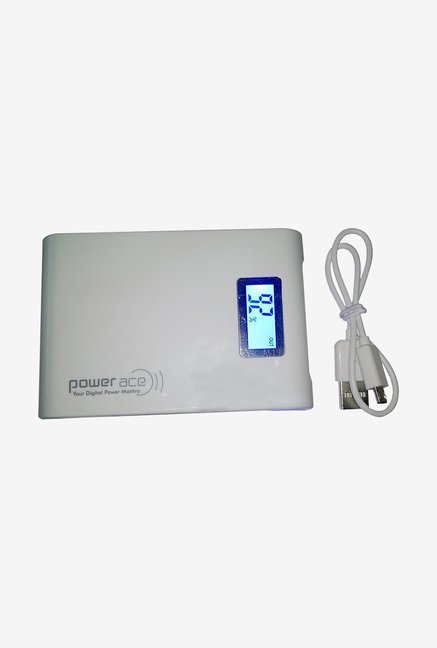 Power Ace PRP 10400 10400 mAh Power Bank (White)