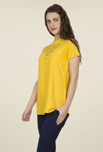 Desi Belle Yellow Solid Top