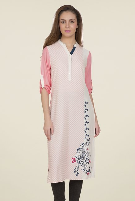 Desi Belle Pink Checks Kurti