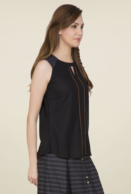Desi Belle Black Solid Top