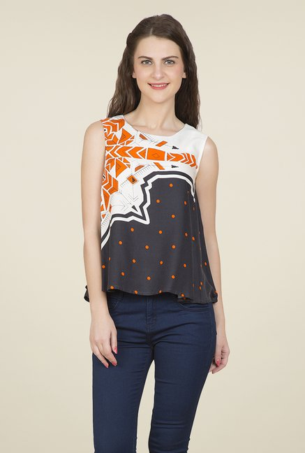 Desi Belle Multicolor Printed Top