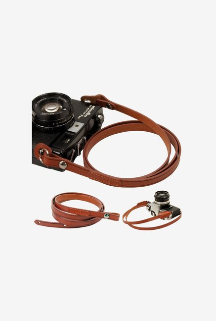 zeffiro Brown Whole Leather Camera Neck Shoulder Strap
