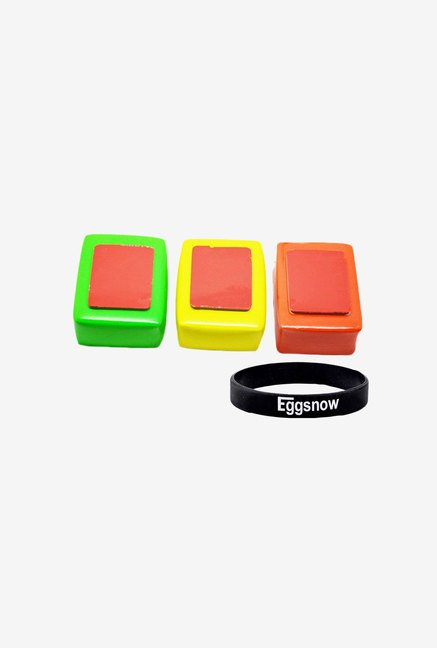 Eggsnow 3Pcs Sponge Box With Adhesive Anti Sink Sticker