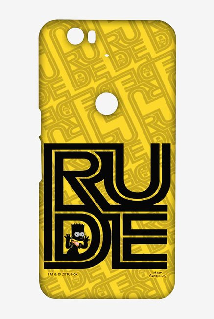Simpsons Rude Case for Huawei Nexus 6P