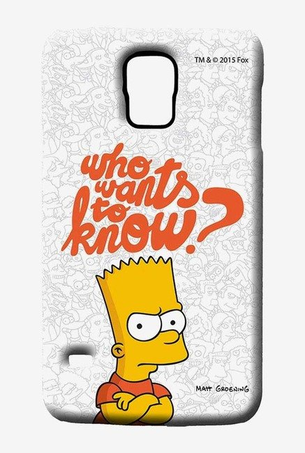 Simpsons Who Wants To Know Case for Samsung S5
