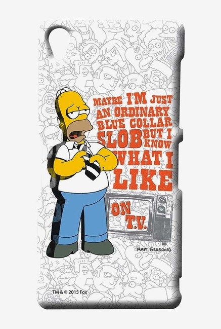 Simpsons Blue Collar Slob Case for Sony Xperia Z3