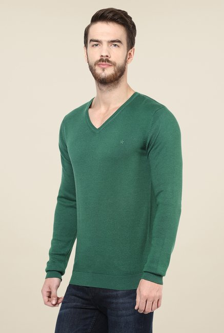 celio* Green Solid Sweater