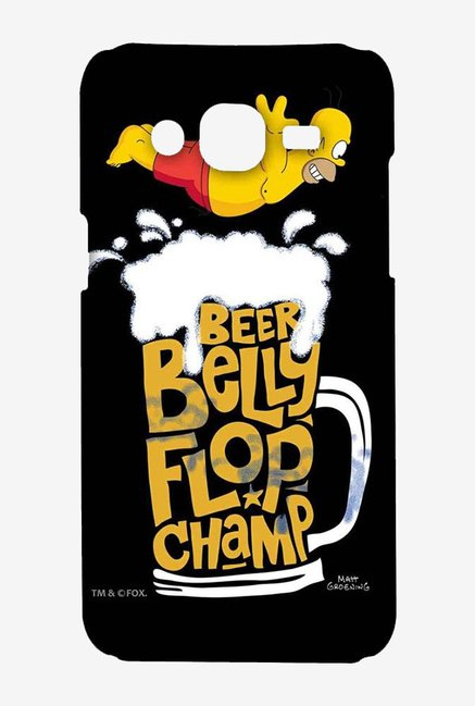 Simpsons Beer Belly Flop Champ Black Case for Samsung On7