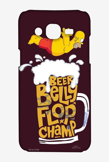 Simpsons Beer Belly Flop Champ Maroon Case for Samsung On7