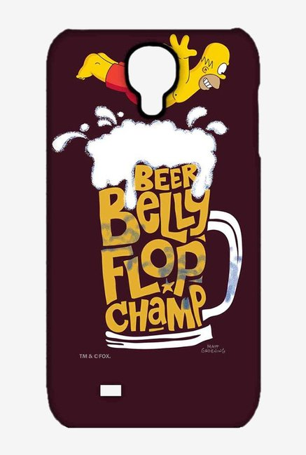 Simpsons Beer Belly Flop Champ Maroon Case for Samsung S4