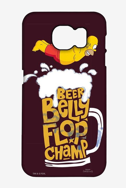 Simpsons Beer Belly Flop Champ Maroon Case for Samsung S6
