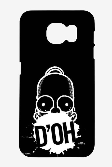 Simpsons D'OH Black Case for Samsung S6
