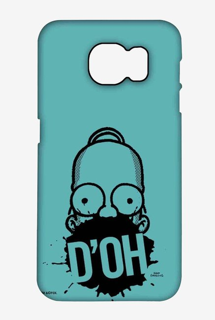 Simpsons D'OH Teal Case for Samsung S6