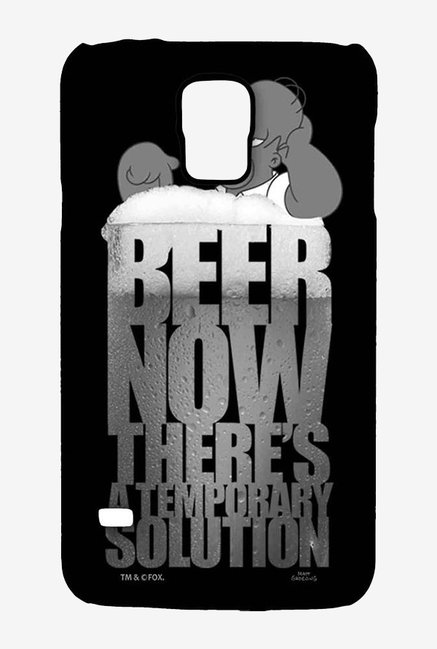 Simpsons The Beer Solution Black Case for Samsung S5