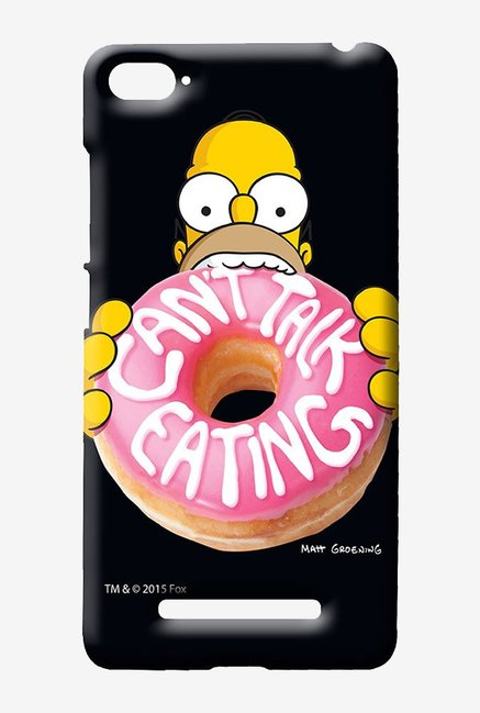 Simpsons Cant Talk Eating Black Case for Xiaomi Mi4i