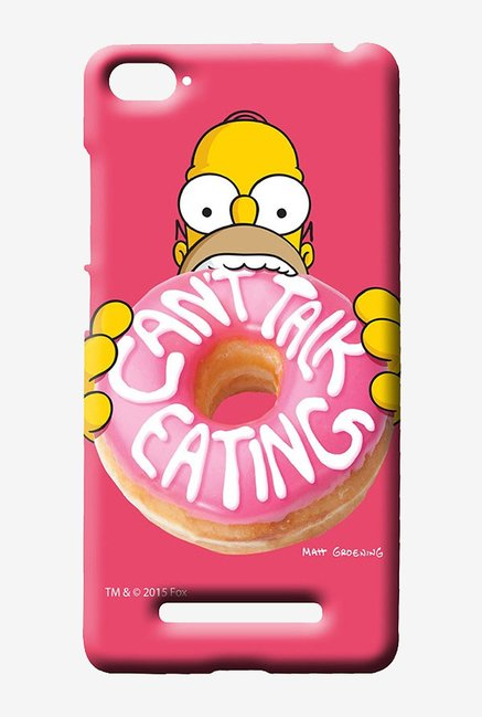 Simpsons Cant Talk Eating Pink Case for Xiaomi Mi4i