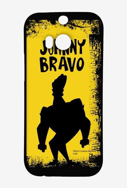 Johnny Bravo Yellow Grunge Case for HTC One M8