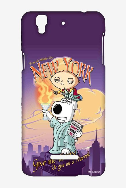 Family Guy Brian Liberty New York Case for Yu Yureka