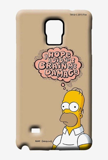 Simpsons Brain Humour Case for Samsung Note 4