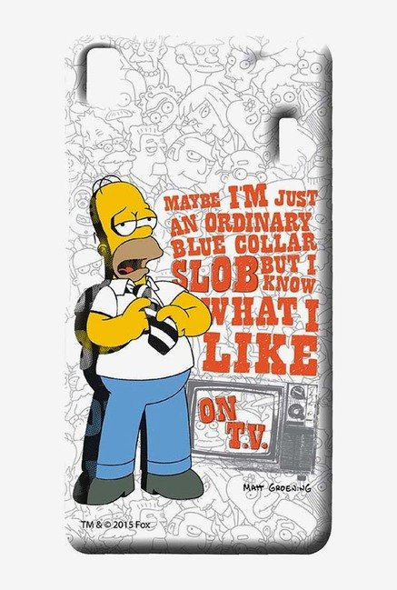 Simpsons Blue Collar Slob Case for Lenovo A7000